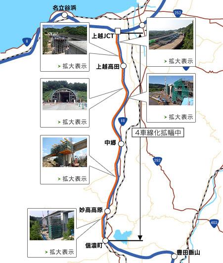 上信越自動車道の開通予定(滝寺第二橋) | NEXCO東日本