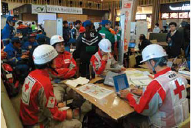 Photograph of the situation of disaster management center indoor operation training