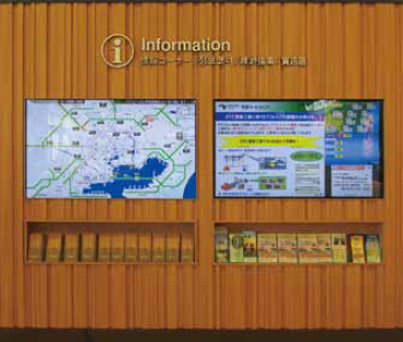 Image of information provision in the service area / parking area
