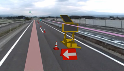 Image image that allows placement of 3D models such as underground buried objects / regulated materials / construction vehicles on the video