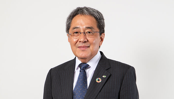 Photograph of Kaoru Matsuzaki, Director and Managing Executive Officer, General Manager of Technology Division and Deputy General Manager of Management Business Division (in charge of renewal)