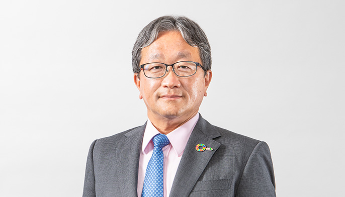 Photo of Masafumi Mori, Representative Director and Senior Managing Executive Officer, Assistant to the President, General Manager of Construction Business Division