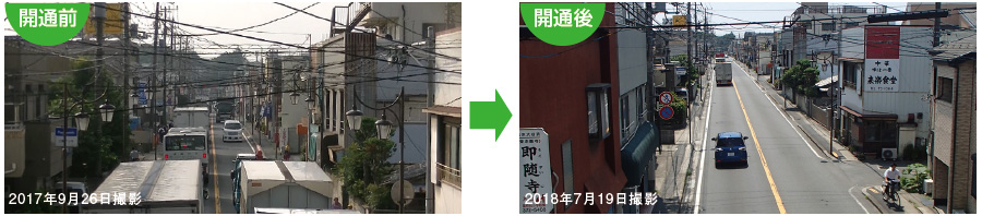 Photograph of improvement situation of driving environment of general road in Ichikawa, Matsudo-shi