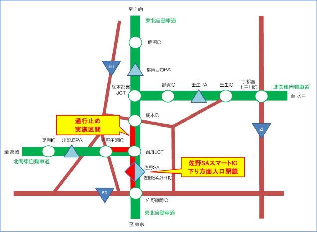 関東 自動車 道 北