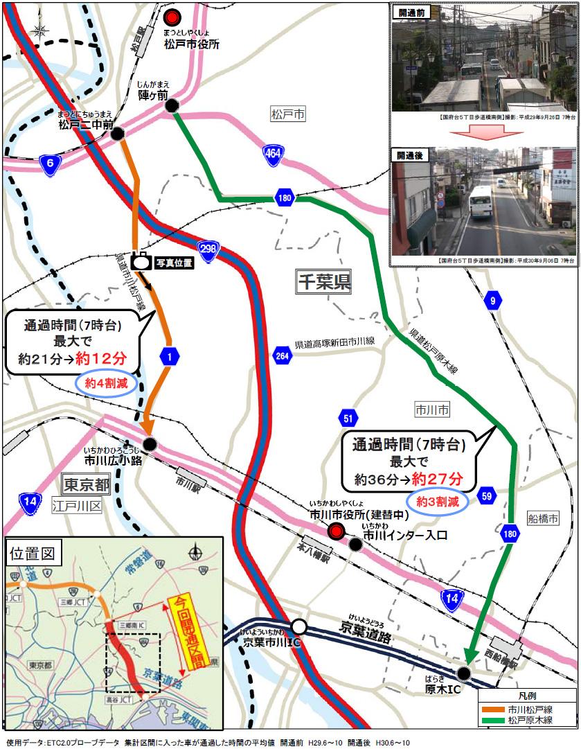 市川・松戸市内一般道の走行環境が改善【2】